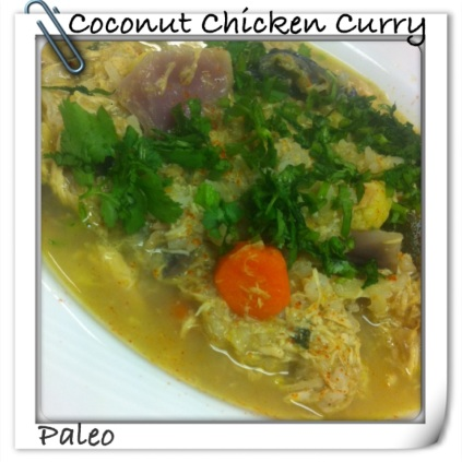 coconut paleo curry