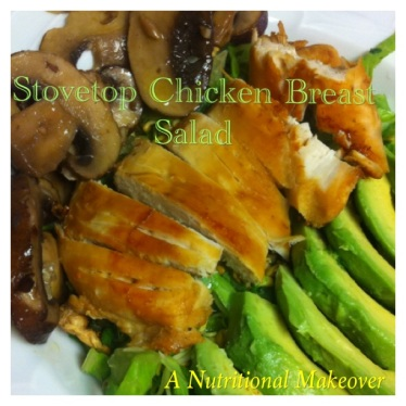 Sovetop chicken breast salad